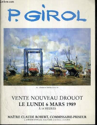 CATALOGUE DE VENTE AUX ENCHERES - NOUVEAU DROUOT - P.GIROL - 6 MARS 1989.