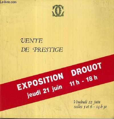 CATALOGUE DE VENTE AUX ENCHERES - DROUOT - ART ABSTRAIT - PARIS 50-60 - SURREALISME - SALLES 5 et 6 - 22 JUIN 1984.