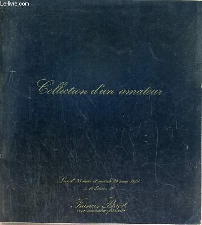 CATALOGUE DE VENTE AUX ENCHERES - NOUVEAU DROUOT - COLLECTION D'UN AMATEUR - OBJETS DE VITRINE - ARGENTERIE ANCIENNE ET MODERNE DES XVIIIe et XIXe SIECLES - SALLE 5 - 25-26 MAI 1981.