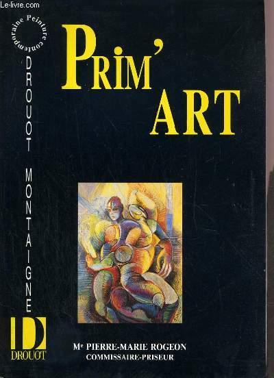 CATALOGUE DE VENTE AUX ENCHERES - DROUOT MONTAIGNE - PRIM'ART - 14 AVRIL 1991.