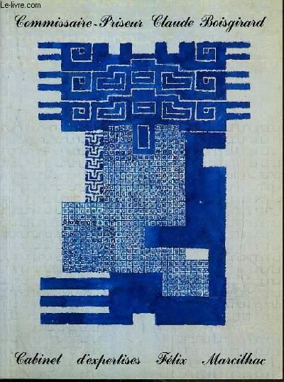 CATALOGUE DE VENTE AUX ENCHERES - DROUOT RICHELIEU - ART NOUVEAU -  ART DECO - SALLE 4 - 18-19 JUIN 1991.