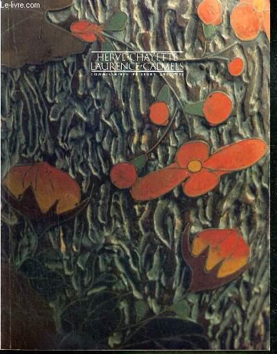 CATALOGUE DE VENTE AUX ENCHERES - DROUOT RICHELIEU - TIMBRES DE COLLECTION - ART NOUVEAU - ART DECO - TABLEAUX ANCIENS - MOBILIER - OBJETS D'ART ANCIENS - SALLE 7 - 30 OCTOBRE 1989.