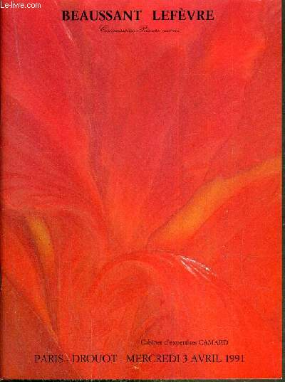 CATALOGUE DE VENTE AUX ENCHERES - DROUOT RICHELIEU - ART NOUVEAU - ART DECO - CERAMIQUES - VERRERIES - MOBILIER - SALLE 7 - 3 AVRIL 1991.
