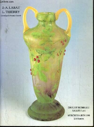 CATALOGUE DE VENTE AUX ENCHERES - DROUOT RICHELIEU - ART NOUVEAU - ART DECO - TABLEAUX XIXe et XXe SIECLES - SALLES 5 et 6 - 6 JUIN 1990.