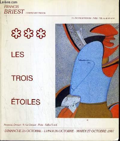 CATALOGUE DE VENTE AUX ENCHERES - NOUVEAU DROUOT - LES TROIS ETOILES - SALLES 5 et 6 - 27 OCTOBRE 1987.