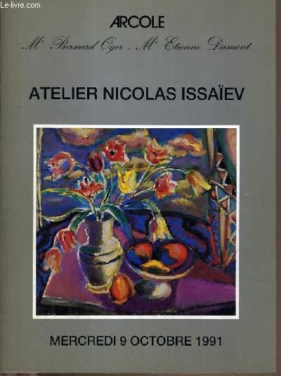 CATALOGUE DE VENTE AUX ENCHERES - DROUOT RICHELIEU - ATELIER NICOLAS ISSAÏEV - SALLE 7 - 9 OCTOBRE 1991.