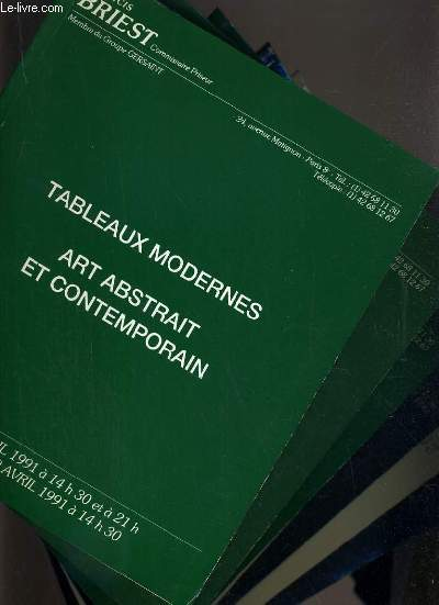 LOT DE 6 CATALOGUES DE VENTE AUX ENCHERES - DROUOT - TABLEAUX MODERNES - ART ABSTRAIT ET CONTEMPORAINS /