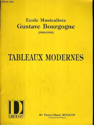 CATALOGUE DE VENTE AUX ENCHERES - DROUOT RICHELIEU - ECOLE MUSICALISTE GUSTAVE BOURGOGNE (1888-1968) - TABLEAUX MODERNES - 17 JUIN 1990.