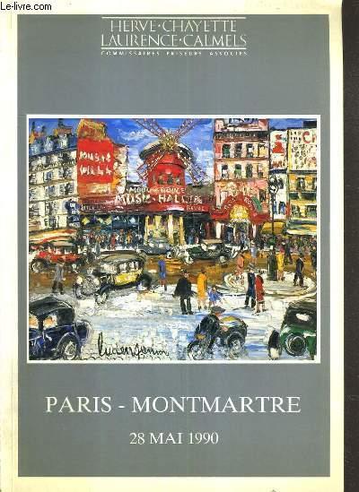 CATALOGUE DE VENTE AUX ENCHERES - DROUOT RICHELIEU - PARIS-MONTMARTRE - SALLE 7 - 28 MAI 1990.