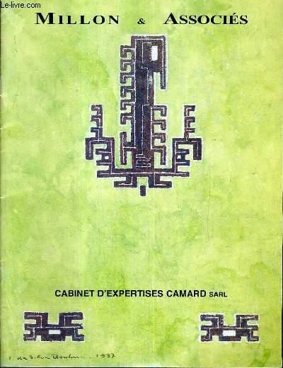 CATALOGUE DE VENTE AUX ENCHERES - DROUOT RICHELIEU - IVAN DA SILVA BRUHNS - ENSEMBLE DE PROJETS DE TAPIS GOUACHES ET AQUARELLES - SALLE 7 - 17 JUIN 1998.