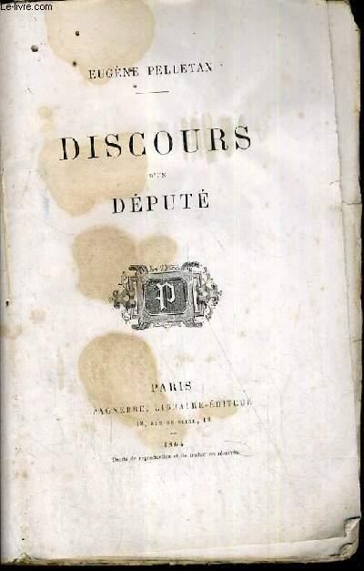 DISCOURS DEPUTE