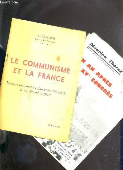 LE COMMUNISME ET LA FRANCE - DISCOURS PRONONCE A L'ASSEMBLEE NATIONALE LE 16 NOVEMBRE 1948 +