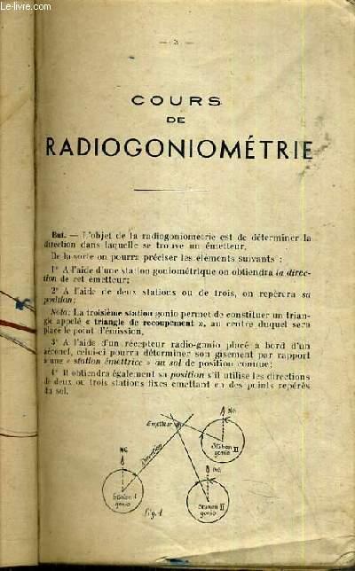COURS DE RADIOGONIOMETRIE