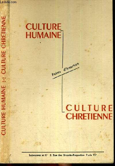 CULTURE HUMAINE - POINTS D'INSERTION - CULTURE CHRETIENNE