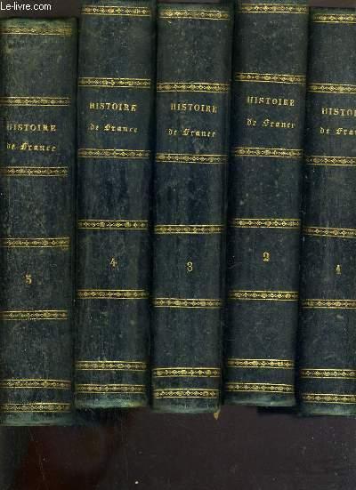 HISTOIRE DE FRANCE - DU TOME 1 à 5.
