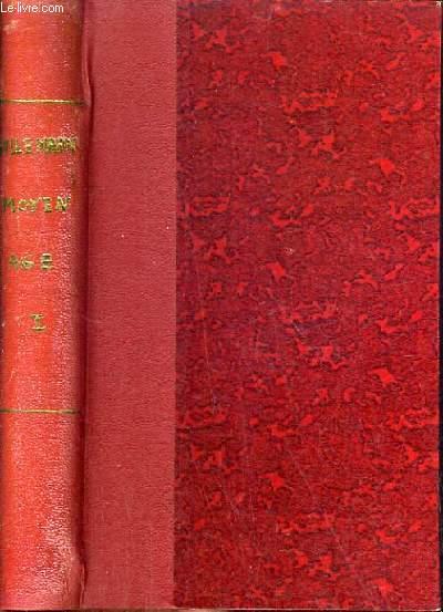 COURS DE LITTERATURE FRANCAISE - TABLEAU DE LA LITTERATURE AU MOYEN-AGE EN FRANCE, EN ITALIE, EN ESPAGNE ET EN ANGLETERRE.