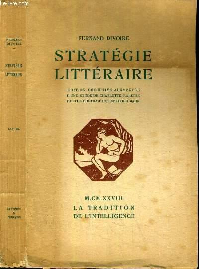 STRATEGIE LITTERAIRE -