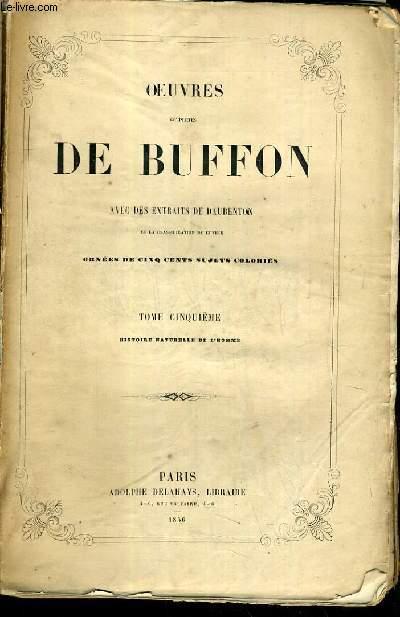 OEUVRES COMPLETES DE BUFFON AVEC DES EXTRAITS DE DAUBENTON ET LA CLASSIFICATION DE CUVIER - TOME 5.