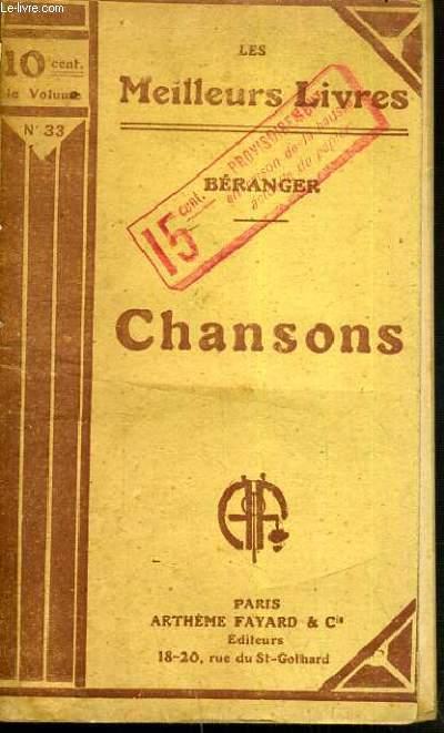 CHANSONS / LES MEILLEURS LIVRE N°33.