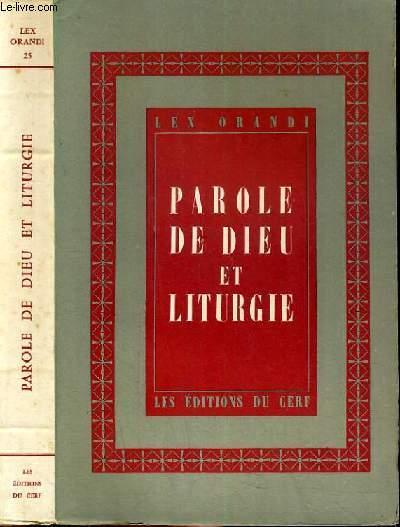 PAROLE DE DIEU ET LITURGIE / LE CONGRES DE STRASBOURG