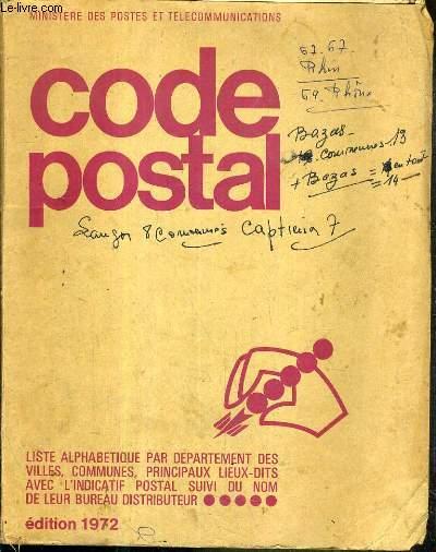 code postal liste alphabetique par depaertement des. Black Bedroom Furniture Sets. Home Design Ideas