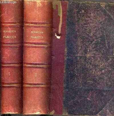 Q. HORATIUS FLACCUS RECENSUIT ATQUE INTERPRETATUS EST IO. GASPAR ORELLIUS ADDITA VARIETATE LECTIONIS CODICUM BENTLEIANORUM BERNENSIUM IV. SANGALLENSIS ET TURICENSIS - EN 2 TOMES - 1 et 2 / TEXTE EN LATIN et GREC.