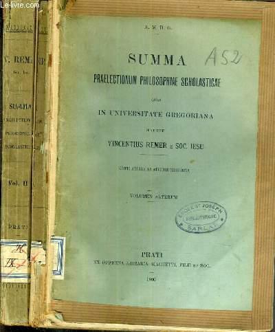 SUMMA PRAELECTIONUM PHILOSOPHIAE SCHOLASTICAE QUAS IN UNIVERSITATE GREGORIANA HABUIT VINCENTIUS REMER E SOC. IESU - VOL. 2.