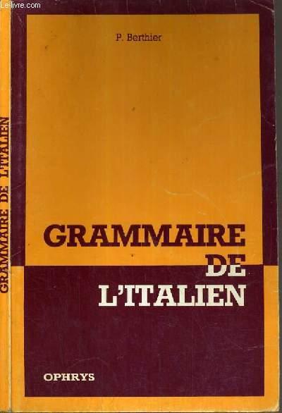 PRECIS DE GRAMMAIRE ITALIENNE