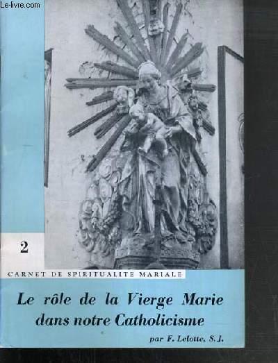 LE ROLE DE LA VIERGE MARIE DANS NOTRE CATHOLISCISME / CARNET DE SPIRITUALITE MARIALE N°2