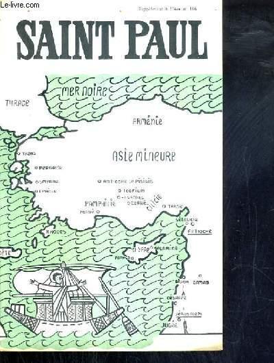 SUPPLEMENT DE L'AVE N°116 - SAINT PAUL.