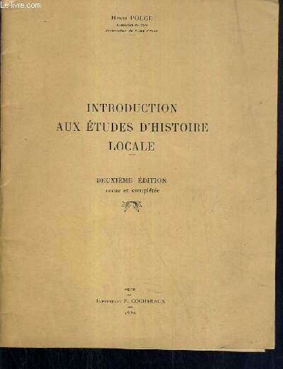 INTRODUCTION AUX ETUDES D'HISTOIRE LOCALE