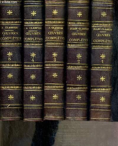 OEUVRES COMPLETES DE JULES CLARETIE - 8 TOMES - DU 1 à 8.