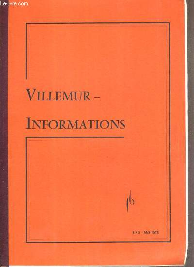 VILLEMUR-INFORMATION - N°2 - MAI 1978
