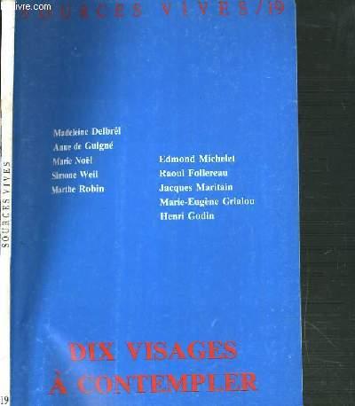SOURCES VIVES - N°19 - DIX VISAGES A CONTEMPLER