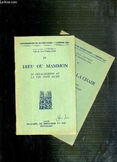 CONFERENCES DE NOTRE-DAME - CAREME 1939 - IV et V.
