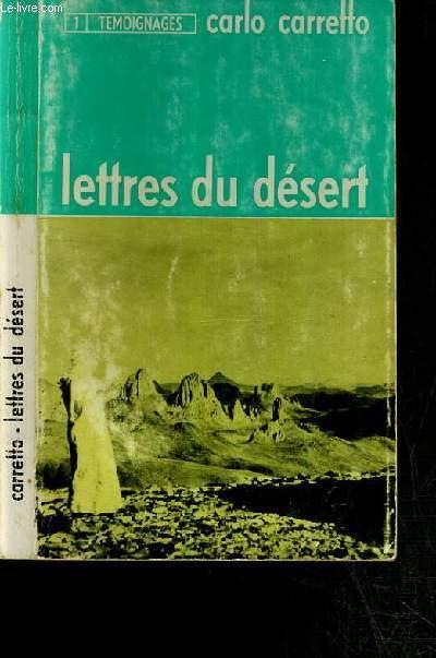 LETTRES DU DESERT / COLLECTION TEMOIGNAGES N°1 - 3ème EDITION.