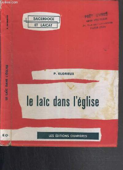 LE LAIC DANS L'EGLISE - SACERDOCE ET LAICAT