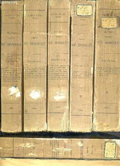 OEUVRES COMPLETES DE BOSSUET PUBLIEES D'APRES LES IMPRIMES ET LES MANUSCRITS ORIGINAUX - 16 TOMES - DU TOME 15  AU TOME 30.