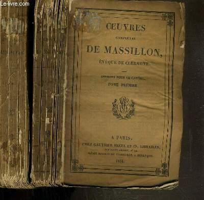 OEUVRES COMPLETES DE MASSILLON - EVEQUE DE CLERMONT - SERMONS POUR LE CAREME - 2 TOMES - 1 + 4