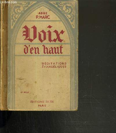 VOIX D'EN HAUT - MEDITATIONS EVANGELIQUES