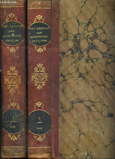 DICTIONNAIRE GENERAL ET GRAMMATICAL DES DICTIONNAIRES FRANCAIS - ?Extrait et complément de tous les Dictionnaires anciens et modernes les plus célèbres - 2 TOMES - 1. A-G + 2. H-Z. / 3ème EDITION.