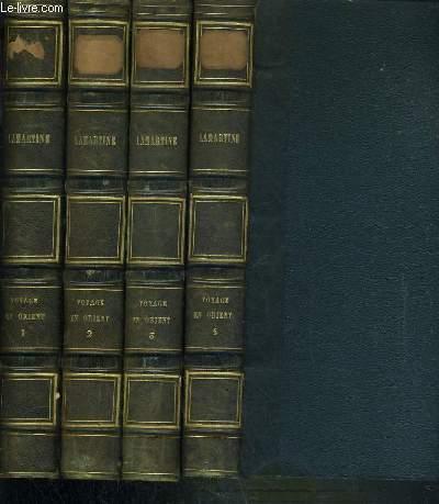 OEUVRES DE M.A. DE LAMARTINE - VOYAGE EN ORIENT -  4 TOMES TOME IX + X + XI + XII.