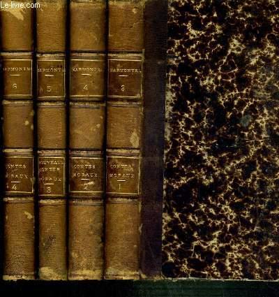 OEUVRES COMPLETES DE MARMONTEL  - 4 TOMES 3 + 4 + 5 + 6. EN 4 VOLUMES. 1 + 2 + 3 + 4.  CONTES MORAUX
