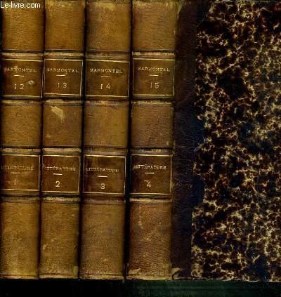 OEUVRES COMPLETES DE MARMONTEL  - 4 TOMES 12 + 13 + 14 + 15. EN 4 VOLUMES. 1 + 2 + 3 + 4. LITTERATURE