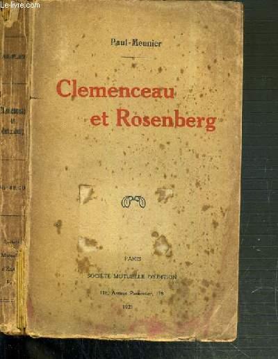CLEMENCEAU ET ROSENBERG