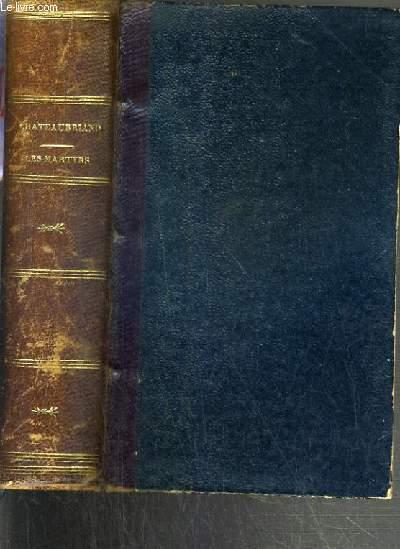 LES MARTYRS EN 2 VOLUMES- OEUVRES DE CHATEAUBRIAND