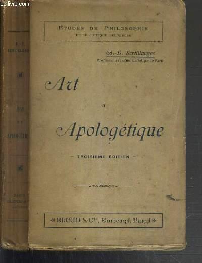 ART ET APOLOGETIQUE - 3ème EDITION / ETUDES DE PHILOSOPHIE