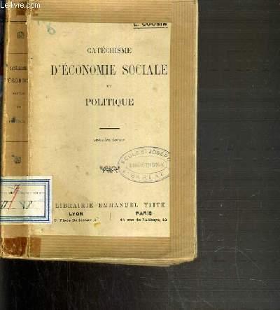 CATECHISME D'ECONOMIE SOCIALE ET POLITIQUE