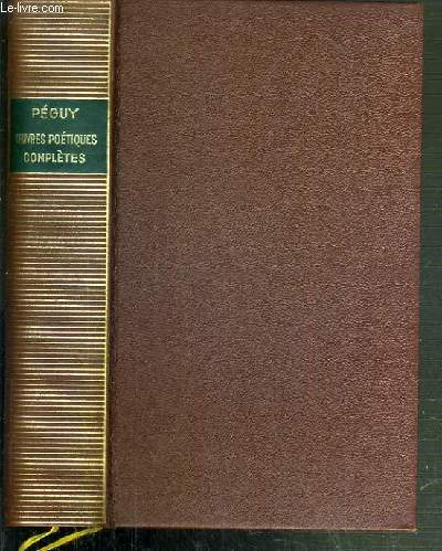 OEUVRES POETIQUES COMPLETES / BIBLIOTHEQUE DE LA PLEIADE