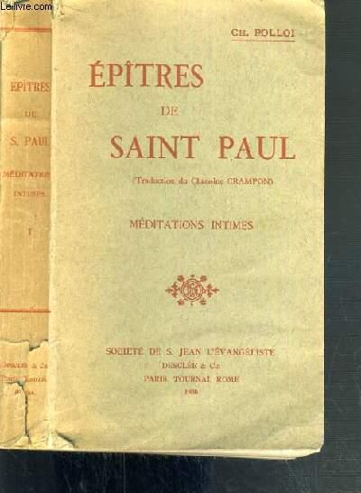 EPITRES DE SAINT PAUL - N°576 - MEDITATIONS INTIMES